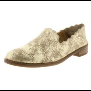 Lucky Brand Charlie gold loafer